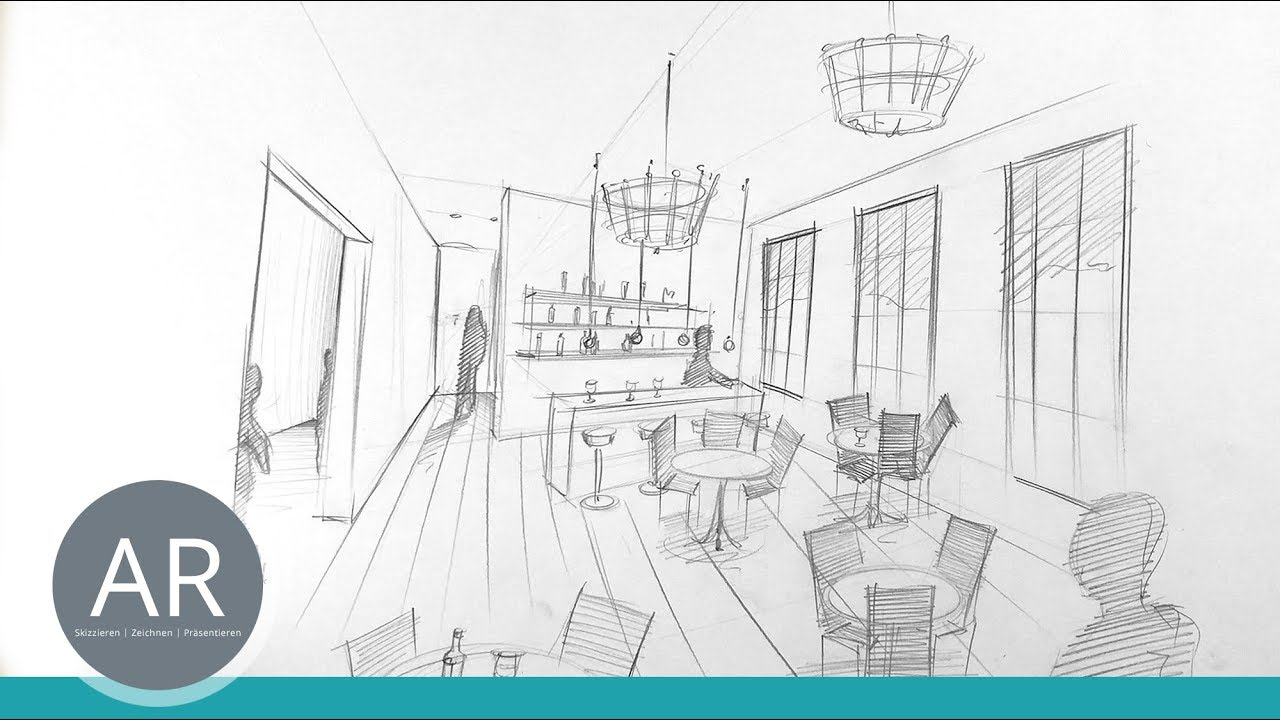 Raum In Perspektive Innenarchitektur Zeichnung Bewerbungsmappe Innenarchitektur Fh Dusseldorf