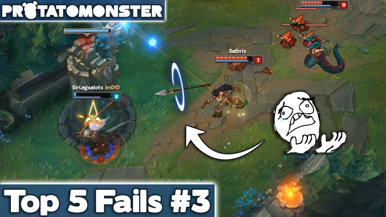 league of legends top 5 fails week 3 lol funny moments youtube