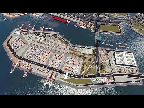 Veinas Port Island terminal - Cities skylines