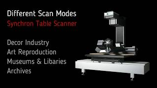 Different Scan Modes with the CRUSE Synchron Table Scanner