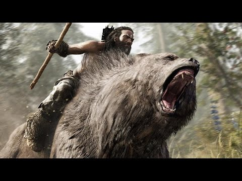 Far Cry Primal Riding A Bear Into Battle 1080p Gameplay Youtube