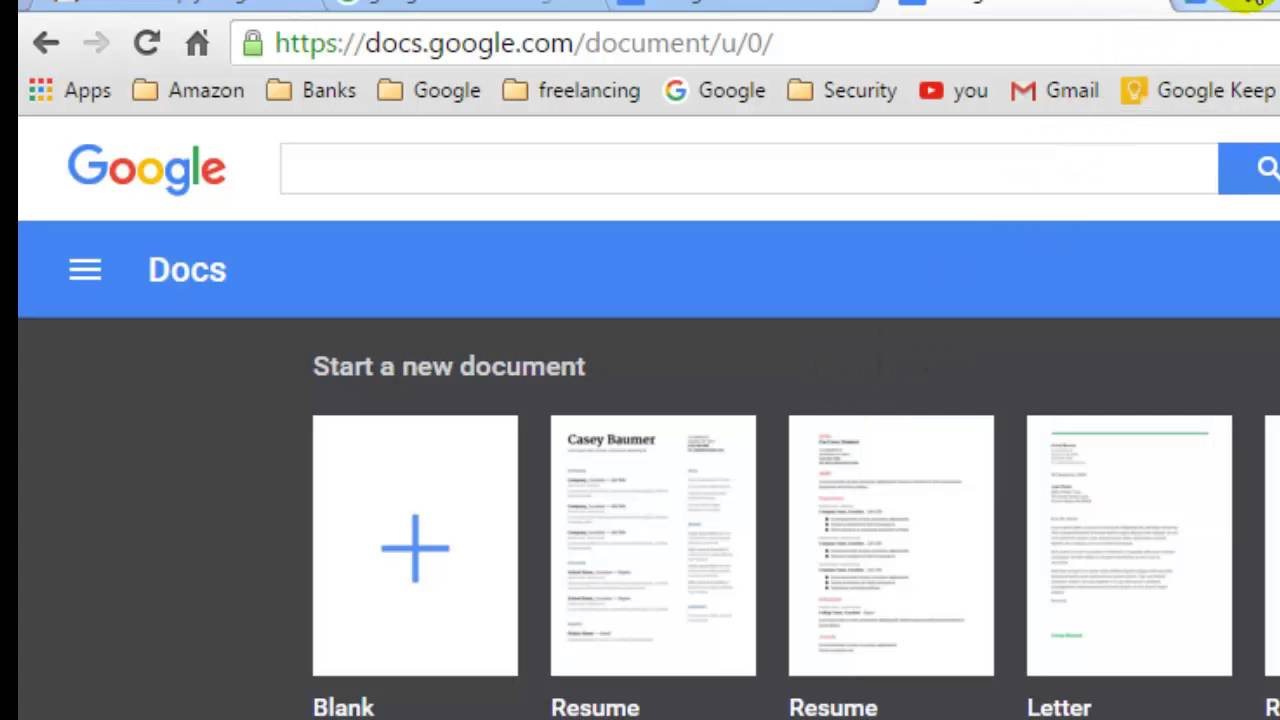 How To Restore The Deleted Document In Google Docs YouTube - Google docs google docs
