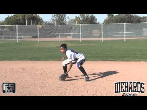 2016 Destiny Blueford Short Stop Softball Skills Video