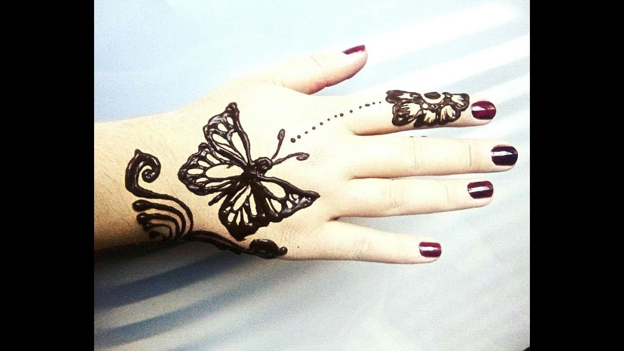 Butterfly Henna Design 2017 Youtube
