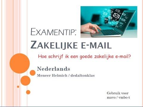 Hoe Schrijf Ik Een Goede Zakelijke E Mail Kijk Maak Een Mail