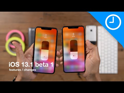 New iOS 13.1 BETA 1 features changes