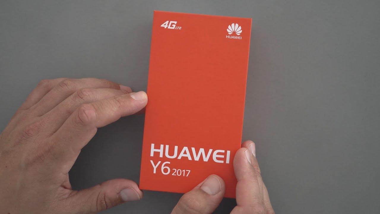 Huawei y6 2017 unboxing ersteindruck deutsch youtube for Housse huawei y6 2017