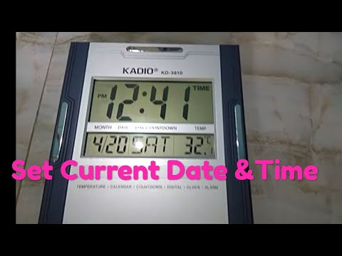 How To Set Time Of Digital Clock    Time Reset Of Digital Clock