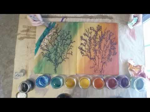 Adding Color To Lichtenberg Art - Matched Set