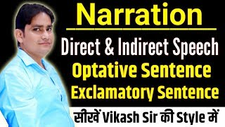 NARRATION - DIRECT TO INDIRECT SPEECH RULES AND EXAMPLES