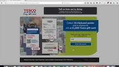25 FREE TESCO CLUBCARD POINTS IN 60 SECONDS