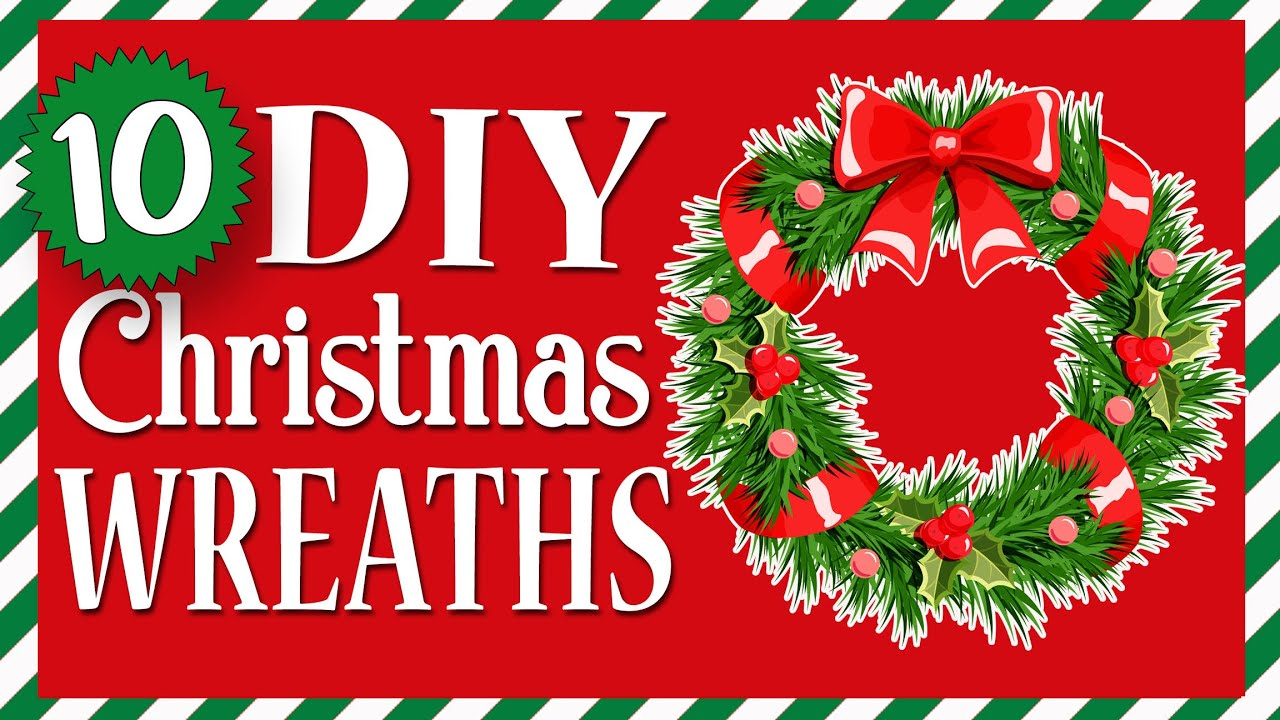 10 EASY Christmas Wreaths ANYONE can make! Cheap & Quick Dollar Tree DIYs