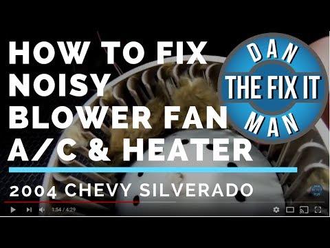 How to Fix a Noisy Blower Fan - A/C & Heater Fan - 2004 Chevy Silverado - DIY