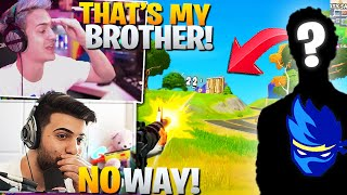 Ninja and I *ACCIDENTALLY* Ran Into HIS BROTHER! (Fortnite Battle Royale)
