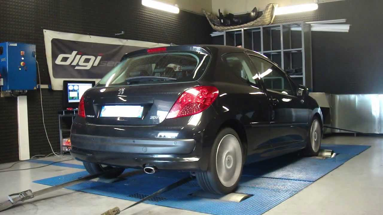 reprogrammation moteur peugeot 207 hdi 110cv 132cv dyno digiservices paris youtube. Black Bedroom Furniture Sets. Home Design Ideas