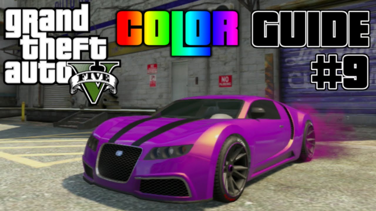 GTA V - Ultimate Color Guide #9   Best Colors Combos for ...