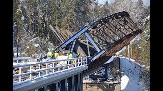 Rekonstrukce železničního mostu přes vodní nádrž Hracholusky