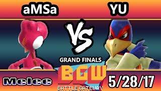 BGW16 SSBM - LG | Yu (Falco)  Vs. VGBC | aMSa (Yoshi) Smash Melee Grand Finals