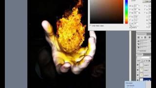 Crear Bola de Fuego en Photoshop