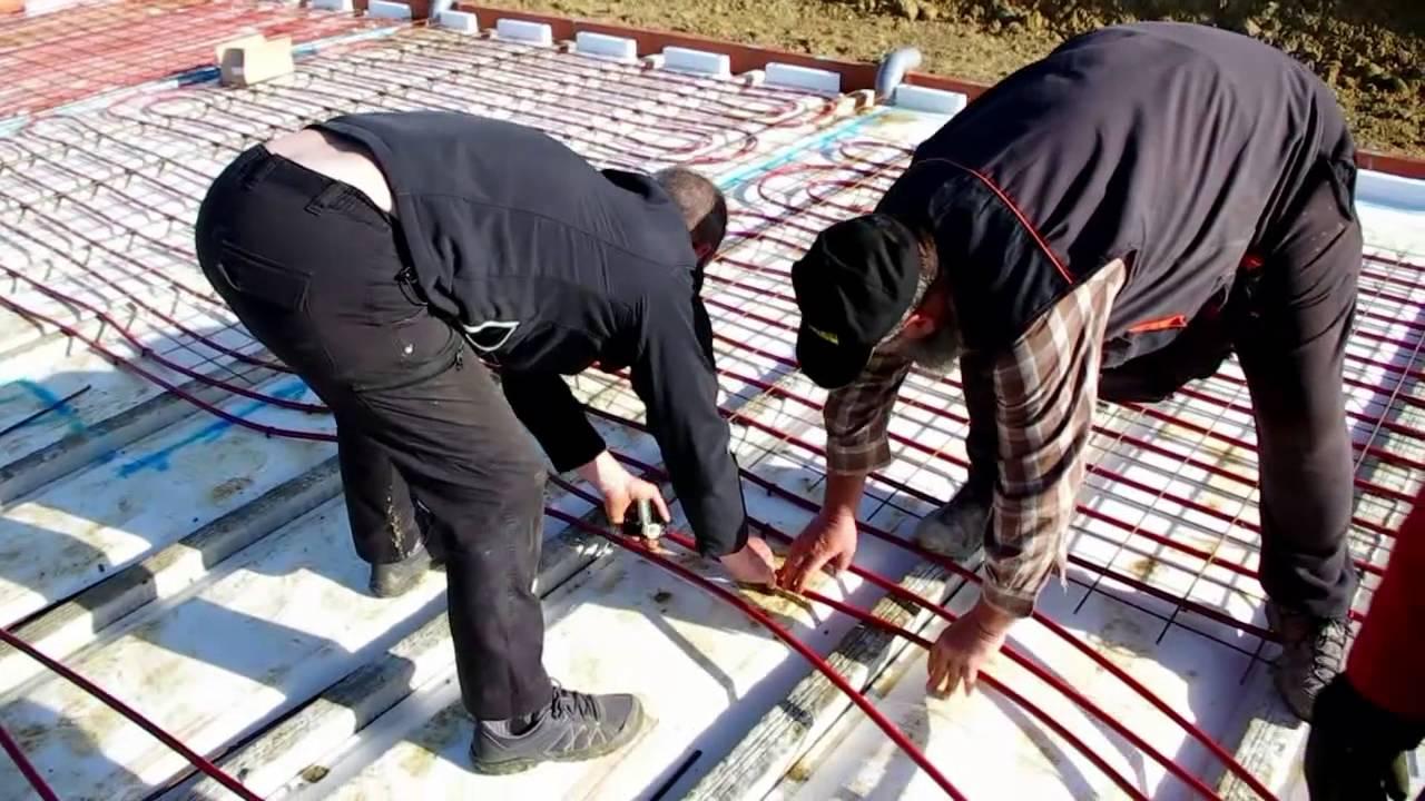 chauffage par le sol modul chantier seac youtube. Black Bedroom Furniture Sets. Home Design Ideas