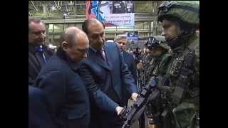 President Putin shown latest AK-12 rifle