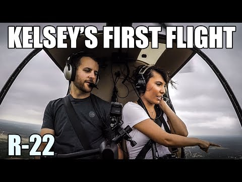 Kelsey's First Time in a Robinson R-22 Helicopter