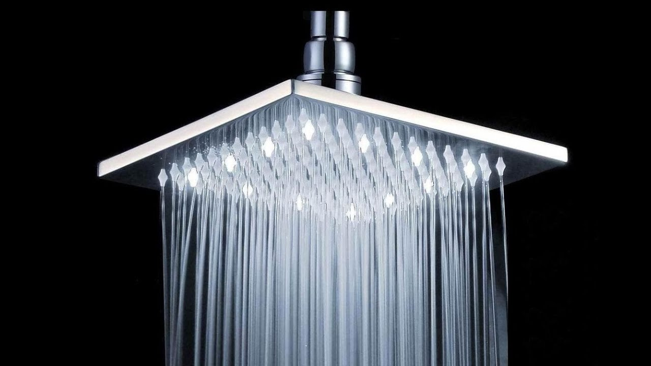 Rain Shower Head High Pressure for Electric Shower - YouTube