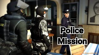 GTA 5 Mission - Police Michael, Police Trevor and Police Franklin are trying to RAID MERRYWEATHER!