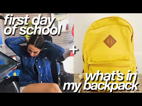 First Day Of College + What's In My Backpack!!