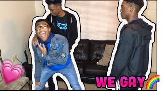 WE GAY🌈 PRANK ON MARSHALL2❌ (HE TRIED TO STAB US😮‼️‼️)