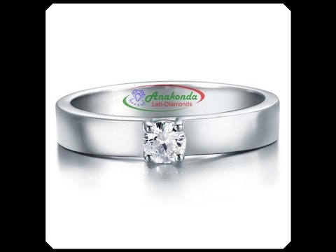 Wedding Man Ring Synthetic Anakonda Lab Grown Diamond 0.25Ct Round Silver 925
