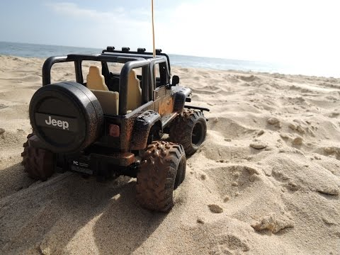 Remote Control RC Jeep At Crystal Cove California