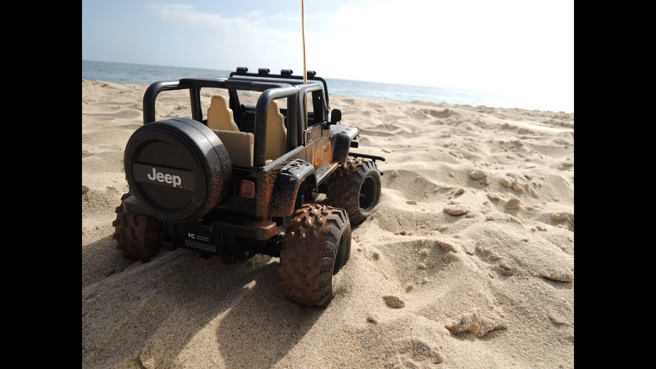 Remote Control Kids Car >> Remote Control RC Jeep at Crystal Cove California - YouTube