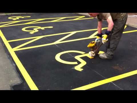 Thermoplastic Disabled Parking by Fastlane Roadmarkings