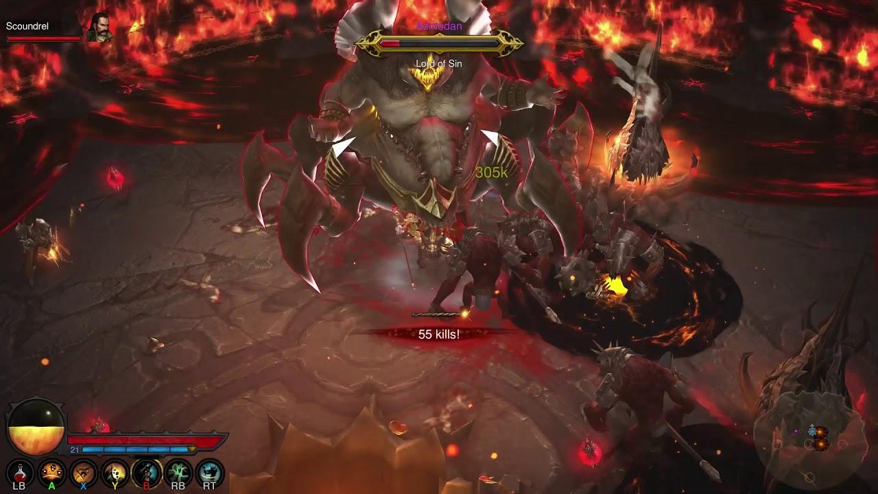 Diablo 3 Boss Battle Azmodan on Xbox One X - YouTube