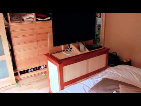 tv lift system meuble avec l vateur pour t l viseur. Black Bedroom Furniture Sets. Home Design Ideas
