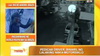 Pedicab driver's shooting caught on cam