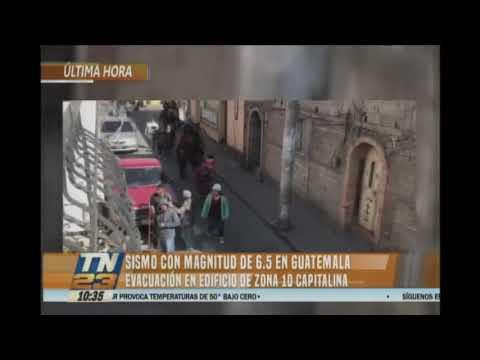 Sismo con magnitud 6.5 en Guatemala