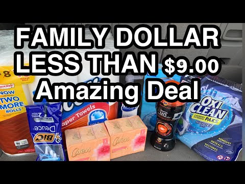 FAMILY DOLLAR 5/21/19 ALL THIS FOR LESS THAN $9.00
