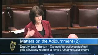 Joan Burton 21-01-2010 - Adjournment Debate - Residential Institutions - Dáil Éireann