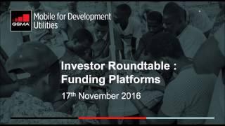 Investor Roundtable Webinar Series: Funding Platforms