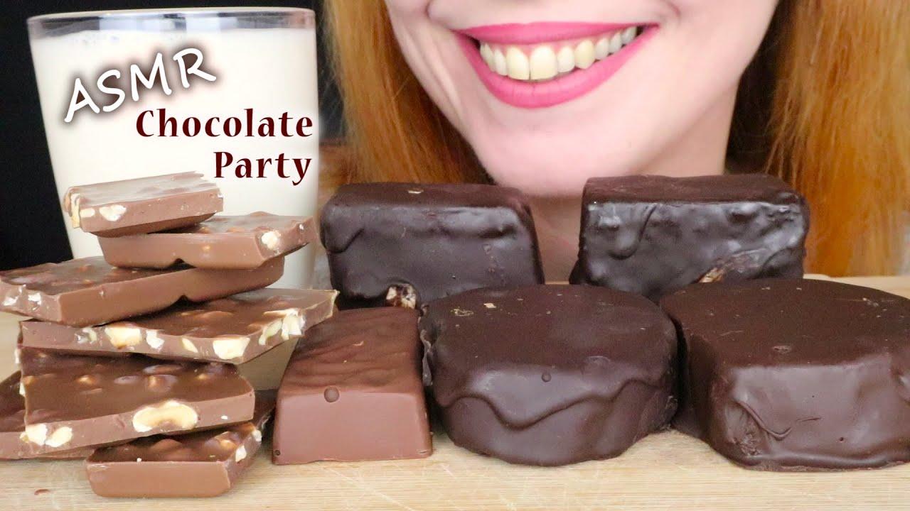 ASMR: CHOCOLATE PARTY 🍫 *CHOCOLATE CAKES, CHOCOLATE BARS & CARIOKAS* | No Talking | Eating Sounds