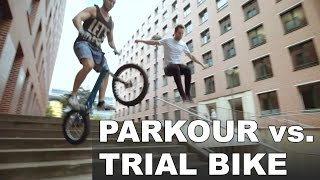 Parkour vs. Trial Bike(Parkour & Freerunning trifft auf einen der besten Trial Biker Deutschlands! Vor den UrbanAmadei Urban Sport Shows (Parkour, Trial Bike, Breakdance) auf der ..., 2015-10-09T16:30:00.000Z)