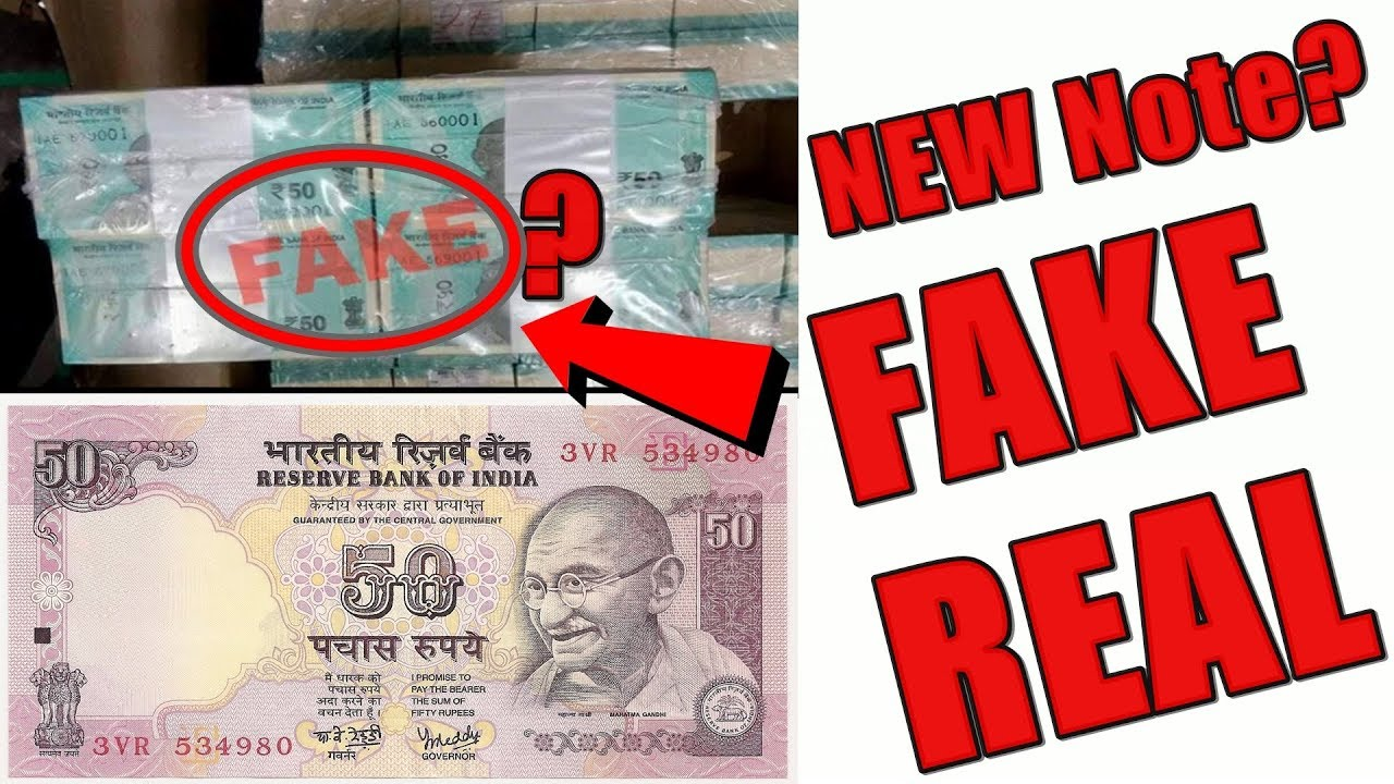 New 50 Rupees Note Fake Or Real?