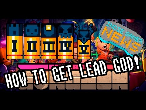 Let's Play Enter the Gungeon Gameplay - HOW TO GET LEAD GOD ACHIEVEMENT IN BOSS RUSH - TOTAL CHEESE