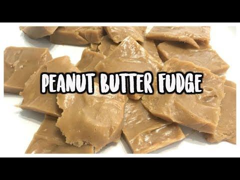 Peanut Butter Fudge   Easy 2 INGREDIENTS