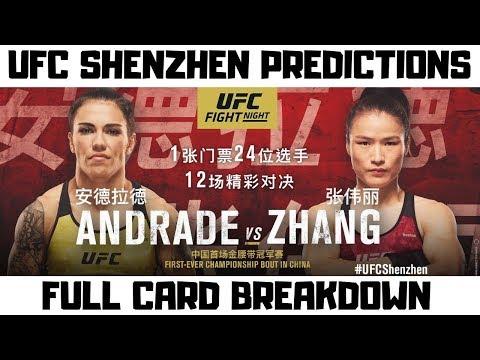 UFC Shenzhen China Predictions - Andrade Vs Zhang - Full Card Breakdown Fight Night 157