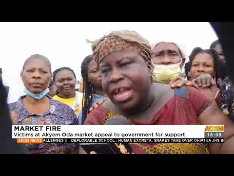 Victims at Akyem Oda market appeal to gov't for support  - Adom TV News (17-9- 2)1