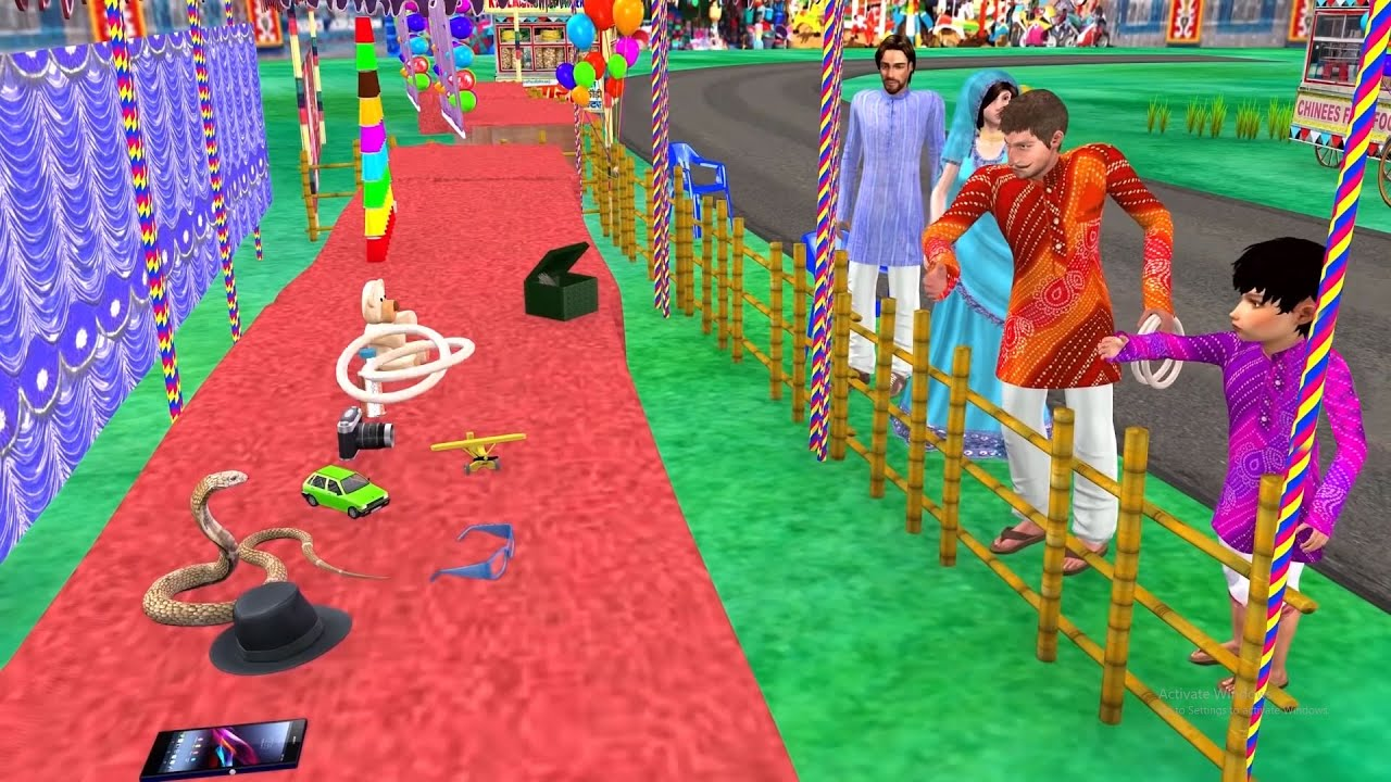 जादुई सांप छल्ला फेंकना खेल Magical Snake Ring Toss Game Comedy Video मजेदार कहानियां Hindi Kahaniya