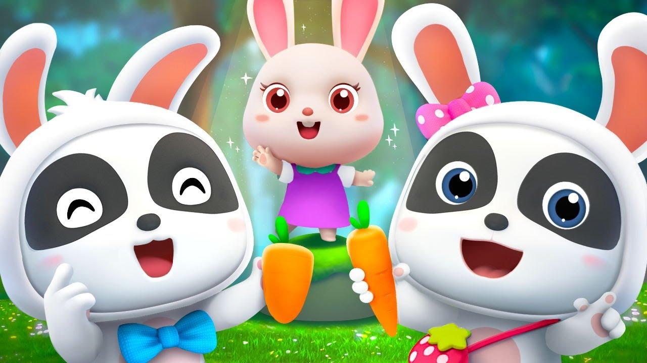 ぴょんこぴょんこ かわいいうさぎ   赤ちゃんが喜ぶ歌   子供の歌   童謡   アニメ   動画   ベビーバス  BabyBus